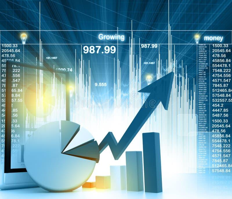 Economical business chart vector illustration