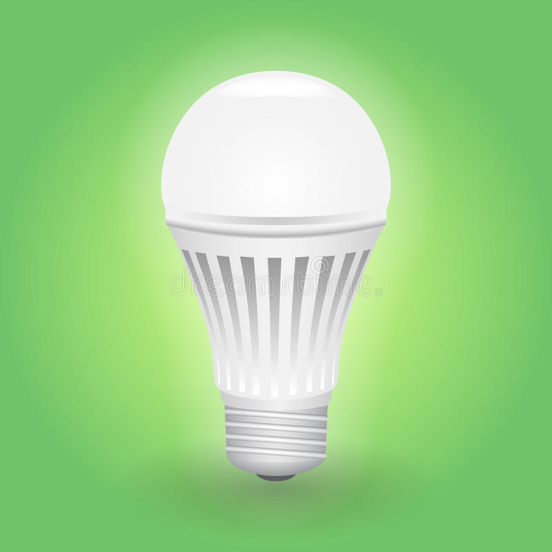 Economical LED light bulb. Save energy lamp. Realistic vector illustration vector illustration