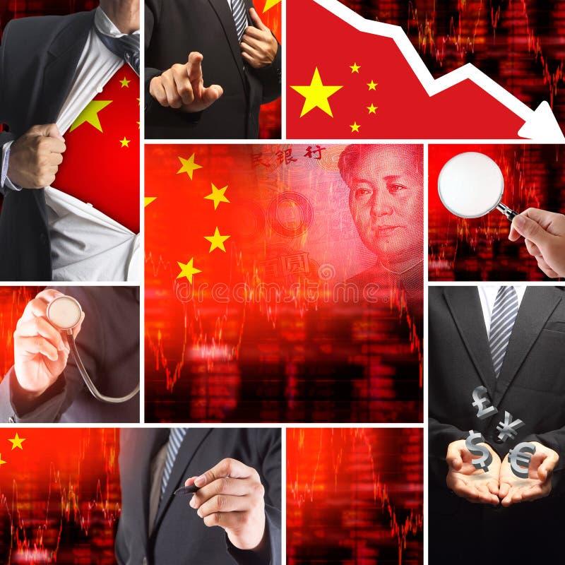 Economics crisis of china vector illustration