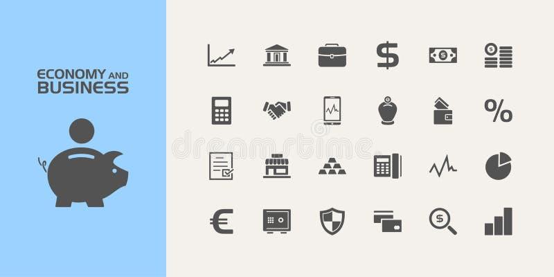 Economie en bedrijfspictogrammen vector illustratie