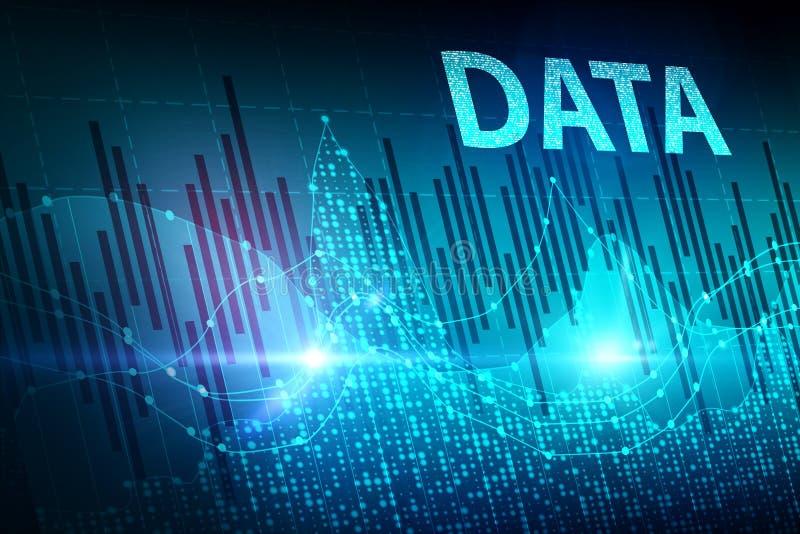 Economie en gegevensconcept vector illustratie