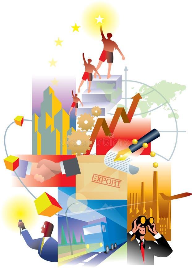 Economie en Toekomst royalty-vrije illustratie