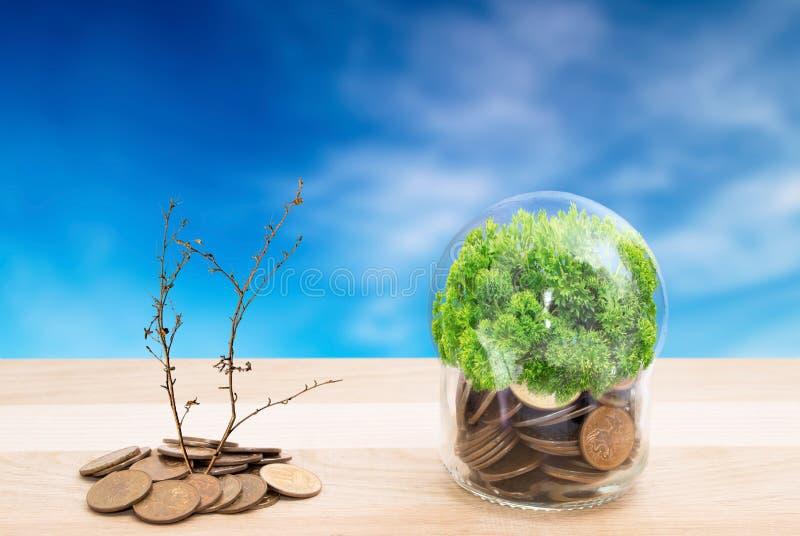 Economie onder de groene bescherming royalty-vrije stock foto's