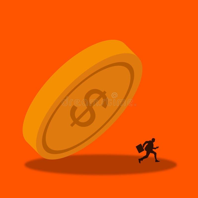 Economiecrisis royalty-vrije illustratie