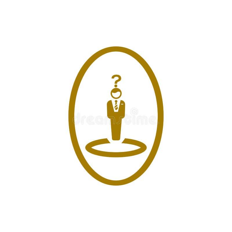 Economisch besluit, businessplan, besluit - het maken, beheer, teambesluit, plan, planning, pictogram van de strategie het gouden vector illustratie