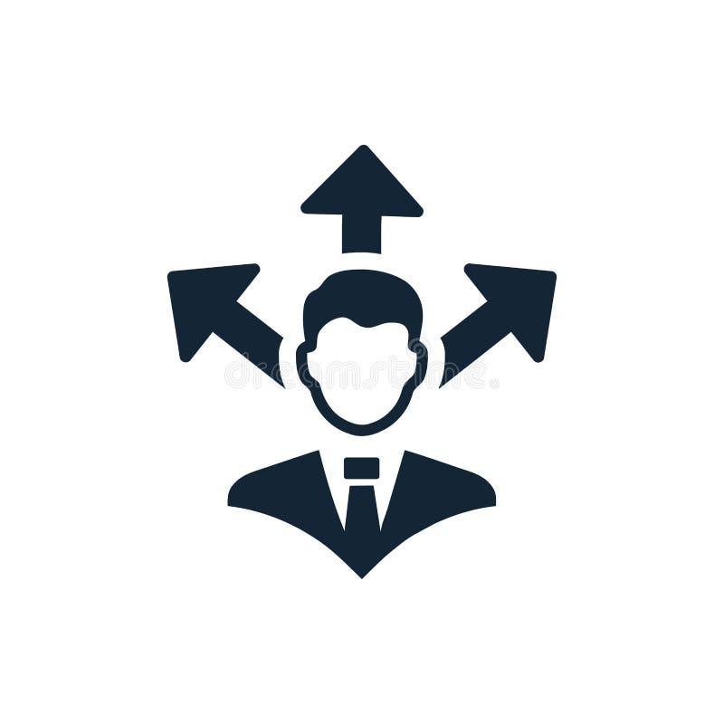 Economisch besluit, businessplan, besluit - het maken, beheer, teambesluit, plan, planning, strategiepictogram royalty-vrije illustratie