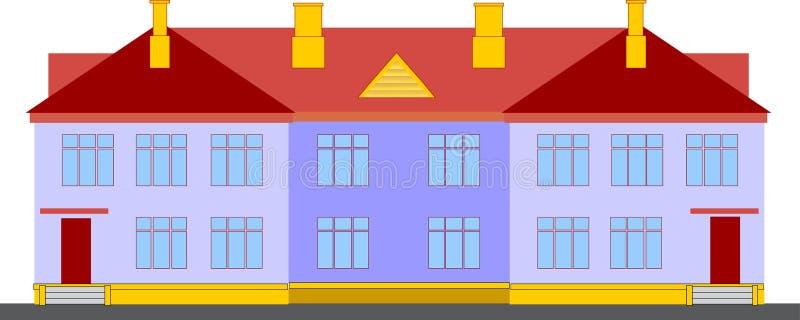 Economisch halfvrijstaand huis. royalty-vrije stock foto