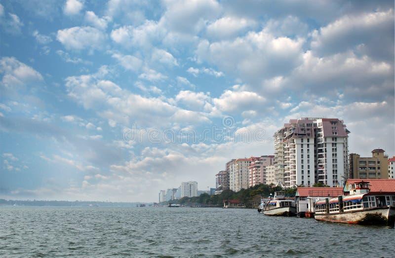 Economisch kapitaal van Kerala - van Kochi horizon royalty-vrije stock afbeelding