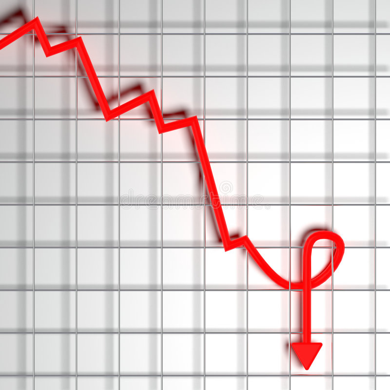 Economische crisis stock illustratie
