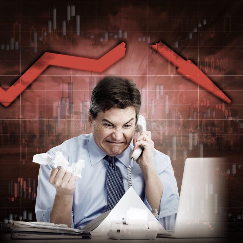 Economische Daling stock fotografie