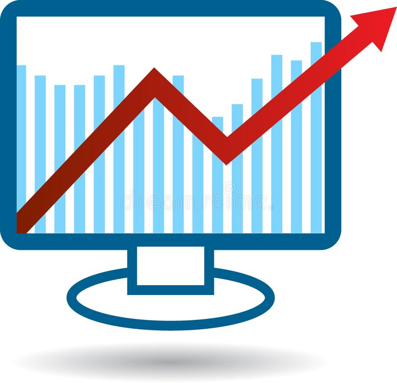 Economische grafiekpijl vector illustratie
