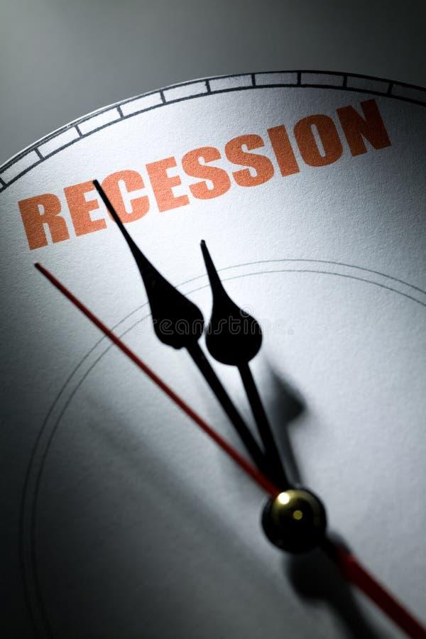 Economische Recessie stock afbeeldingen