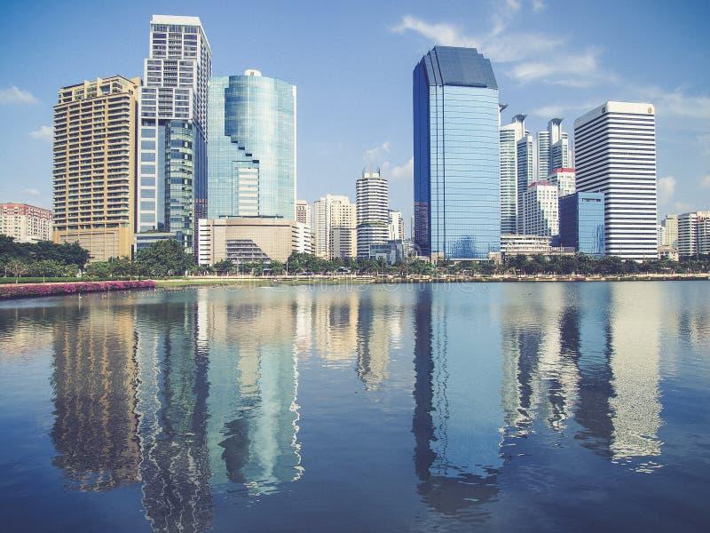 Economische sectorgebouwen van Bangkok, royalty-vrije stock foto's
