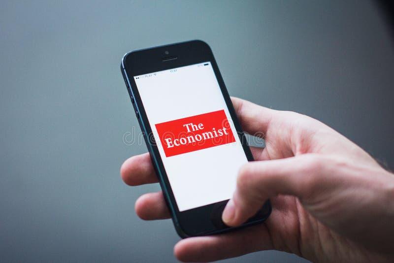 Economist app royalty free stock photo