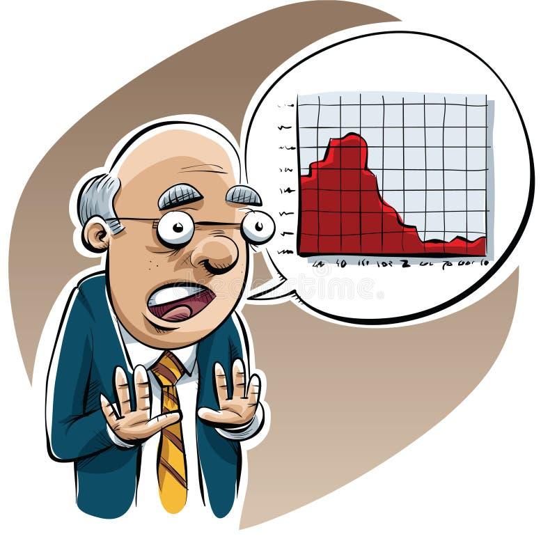 Economist Warning royalty free illustration
