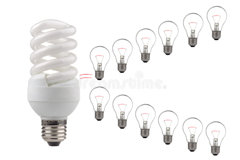 Economizzatore d'energia immagini stock