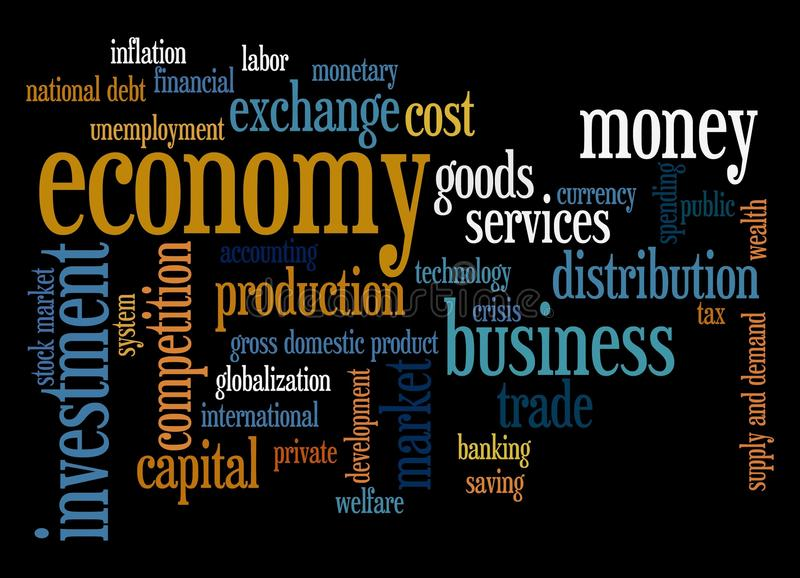 Economy. Overview of relevant and essential economy topics royalty free illustration