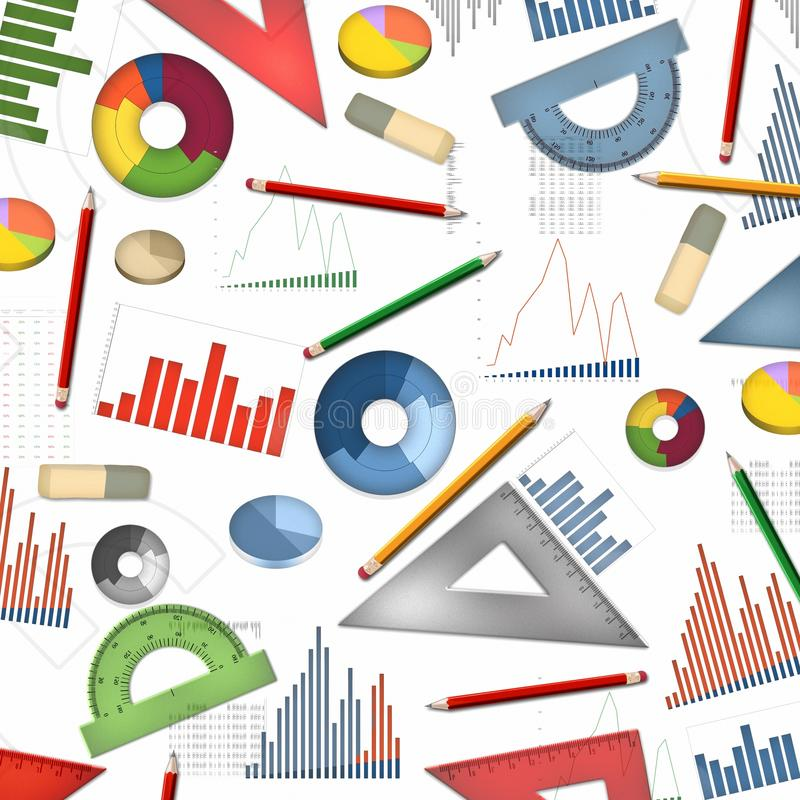 Economy accountant table desktop abstract background. Illustration vector illustration