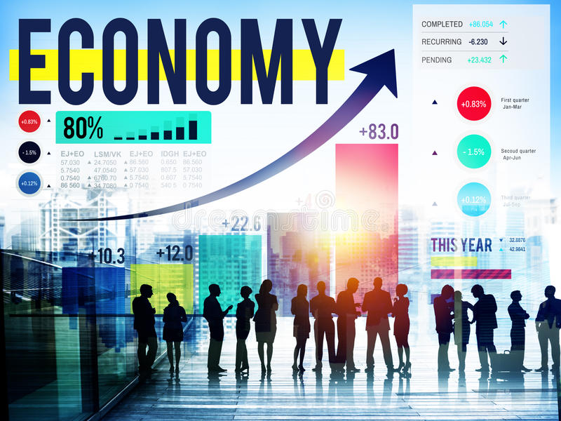 Economy Accounting Financial Investment Money Concept stock photography