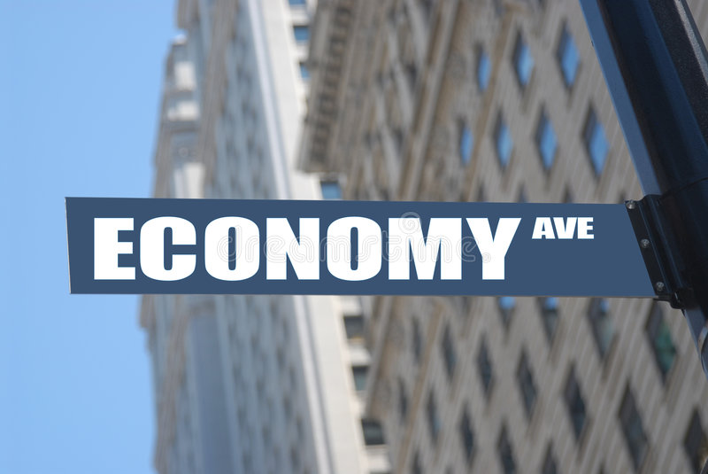 Economy avenue stock photography