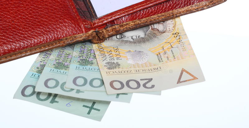 Download Economy And Finance. Wallet With Polish Banknote Isolated Stock Photo - Image: 35740586