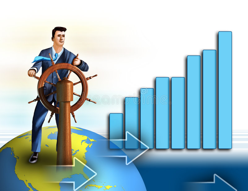Economy growth vector illustration