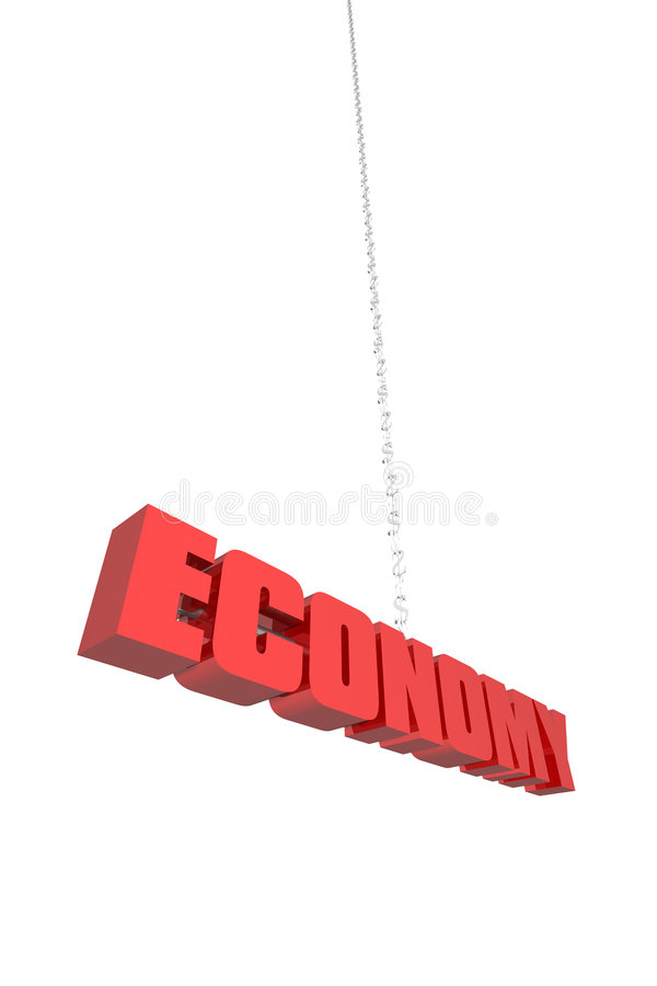 Download Economy Hanging By A Thread Stock Illustration - Image: 3513082