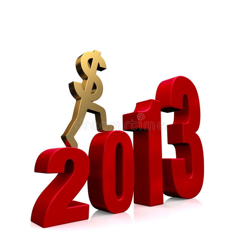 Economy Improves in 2013 royalty free stock photos