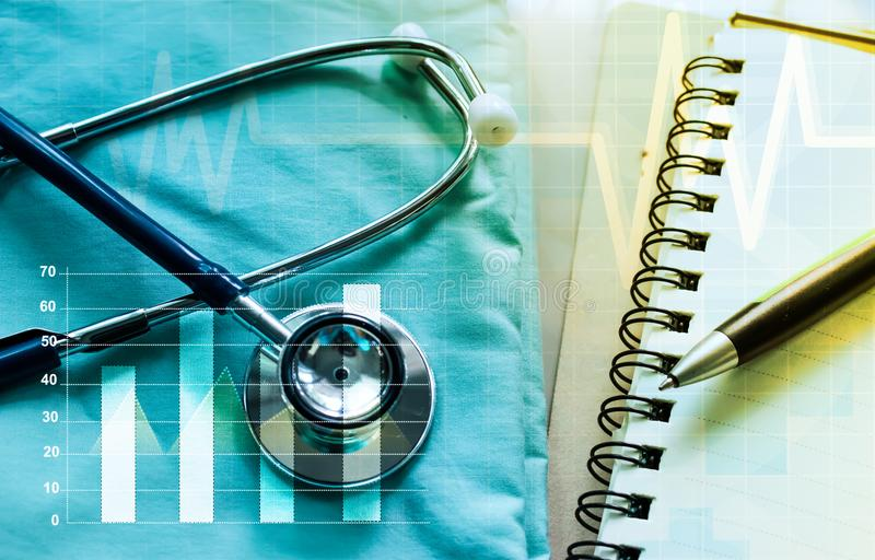 Medical marketing and Healthcare business analysis report.  stock images