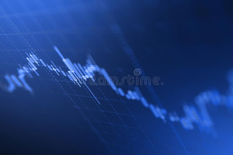 Economy trends background for business idea and all art work design. royalty free stock images