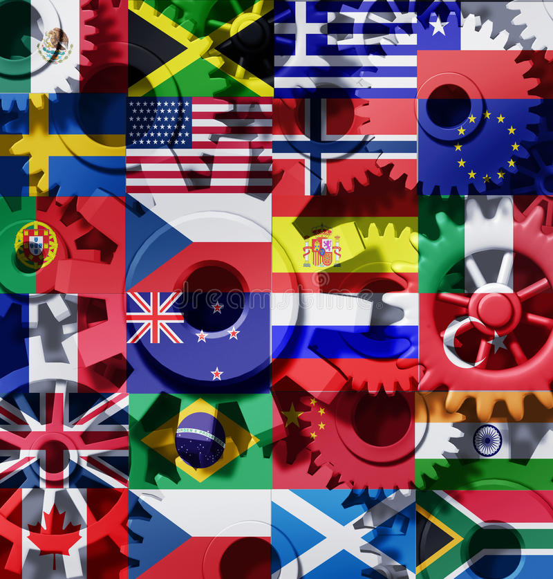 Download Economy World International Cogs Wheels Royalty Free Stock Photo - Image: 17390665