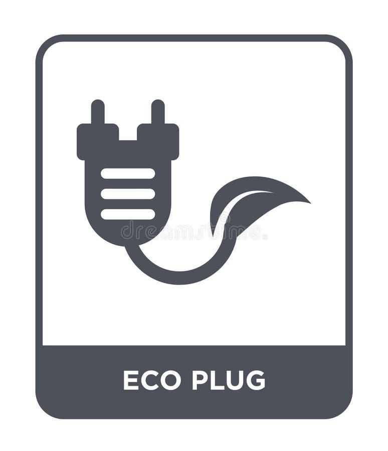 ecoproppsymbol i moderiktig designstil ecoproppsymbol som isoleras på vit bakgrund lägenhet för symbol för ecoproppvektor enkel o vektor illustrationer