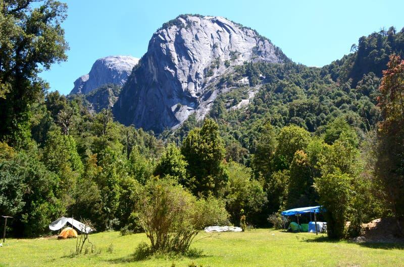 Ecoregion van de gematigde regenwouden van Valdivian in zuidelijk Chili Chileens Patagonië stock afbeeldingen