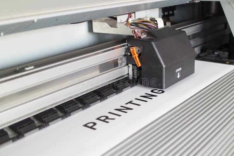 Ecosolvent打印机 免版税图库摄影
