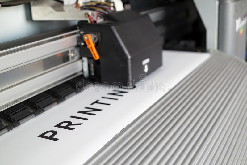 Ecosolvent打印机 免版税库存照片