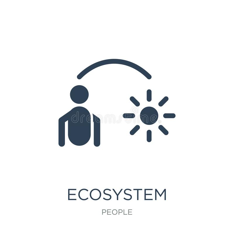 Ecosystem icon in trendy design style. ecosystem icon isolated on white background. ecosystem vector icon simple and modern flat. Symbol for web site, mobile royalty free illustration