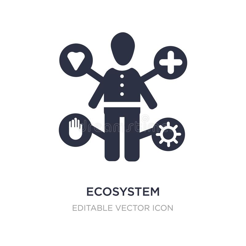 ecosystem icon on white background. Simple element illustration from People concept royalty free illustration