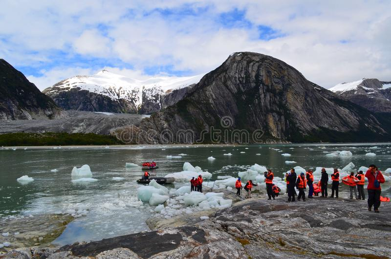 Ecotourism i patagoniaen, Chile arkivbilder