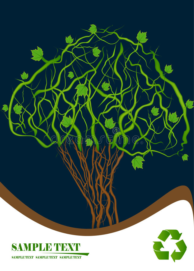ecotree stock illustrationer