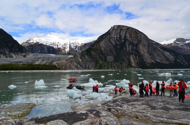 Ecoturismo no Patagonia, o Chile imagens de stock
