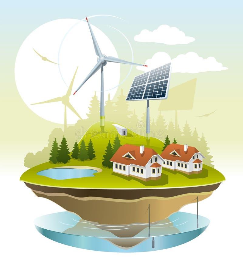 Download Ecovillage vektor illustrationer. Illustration av ström - 27284154