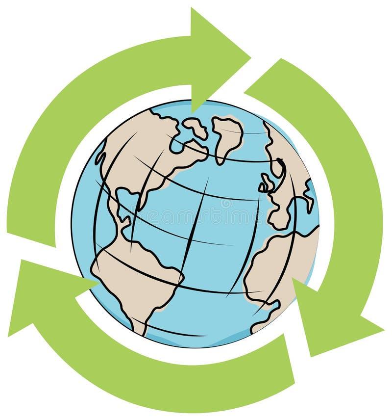 Ecoworld vektor abbildung