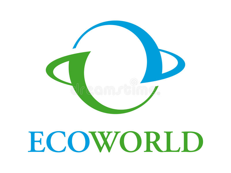 ecoworld logo obraz stock
