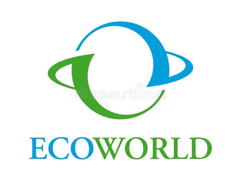 Ecoworld Zeichen vektor abbildung