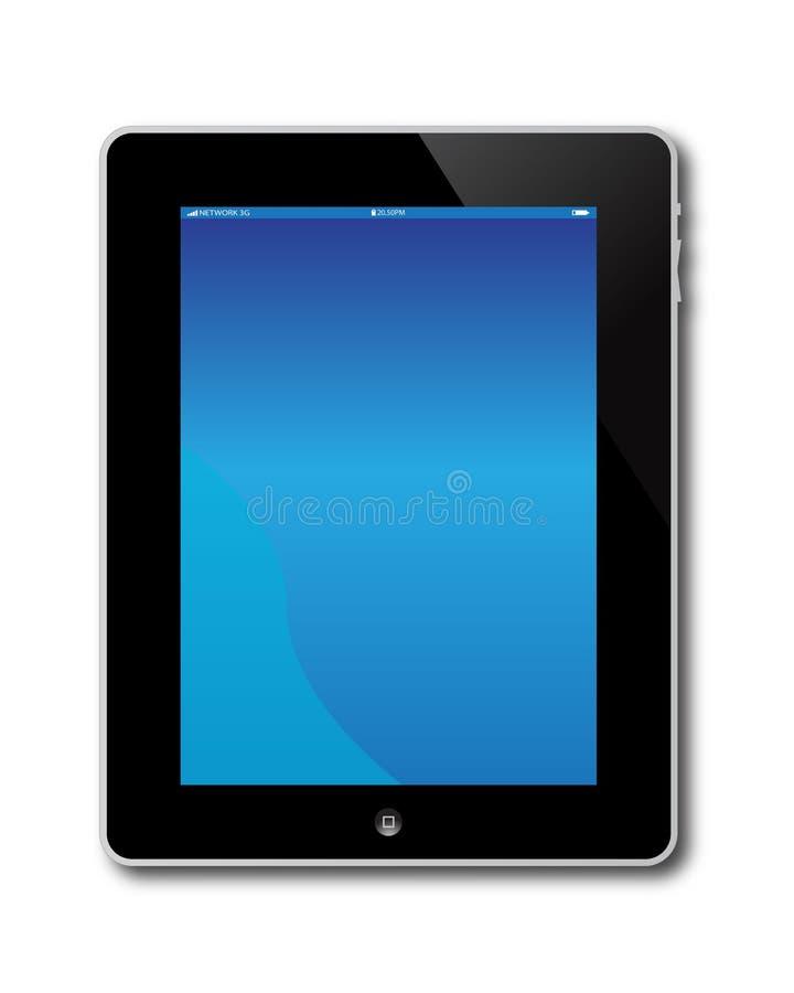 Ecrã de computador de Apple Ipad ilustração royalty free