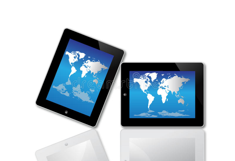 Ecrã de computador de Apple Ipad ilustração do vetor