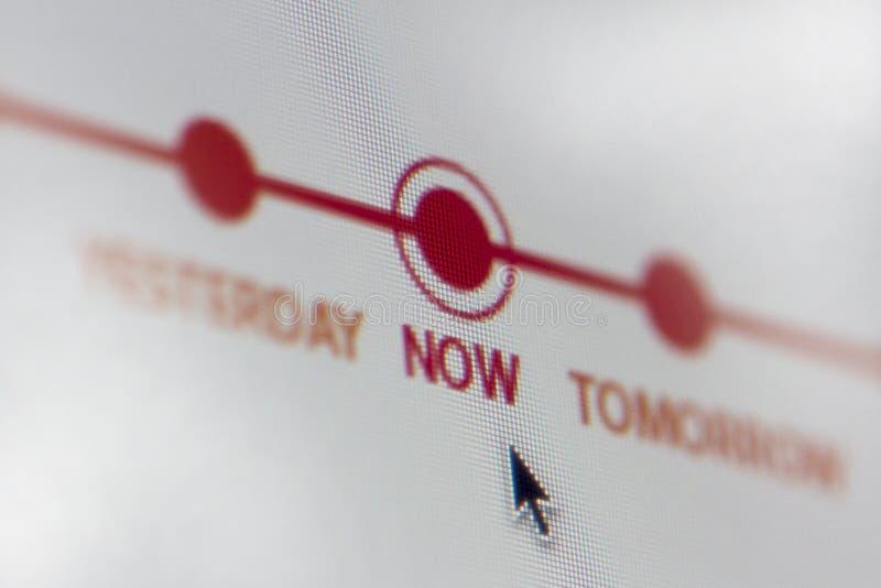 Ecrã de computador do espaço temporal fotos de stock