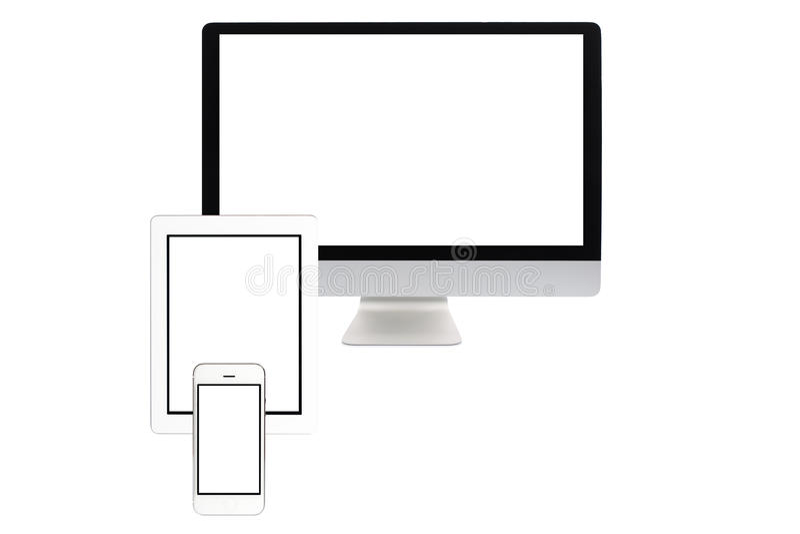 Ecrã de computador isolado fotografia de stock royalty free