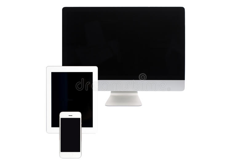 Ecrã de computador isolado imagens de stock