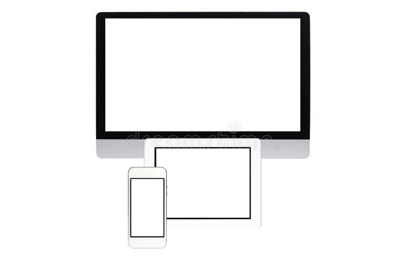 Ecrã de computador isolado fotos de stock